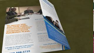 Health insurance company brochure -