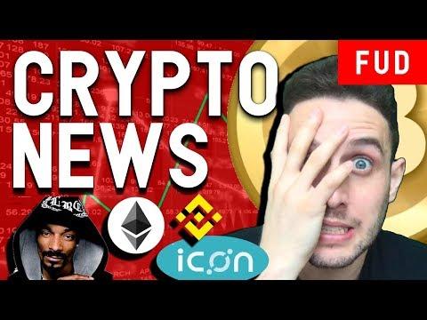 Crypto News: Bitcoin Turns Bearish! ERC20 Bug, ICON Blockchain Fund, Snoop Dogg XRP