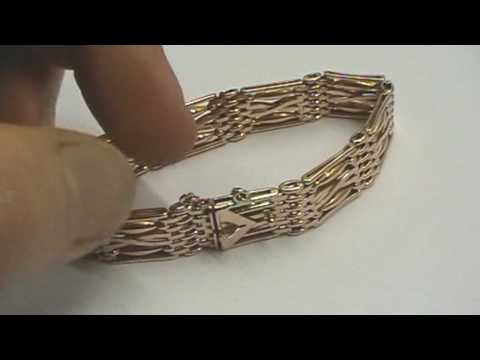 Antique 9ct Rose Gold Gate Bracelet Ebay Item Video Review