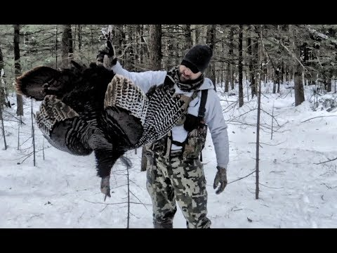Spring Turkey Hunting In 2ft Of Snow And Frigid Temps...yeah That Happened. HUNT · VLOG · 05