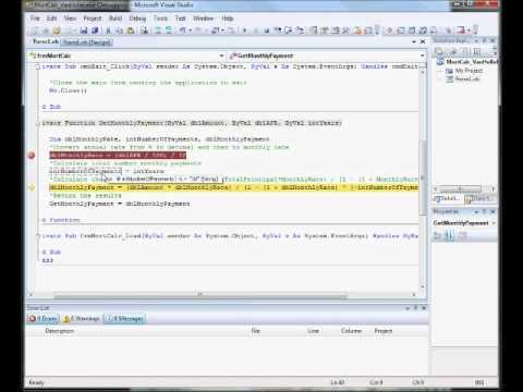 Visual Basic Break Points POS408.wmv