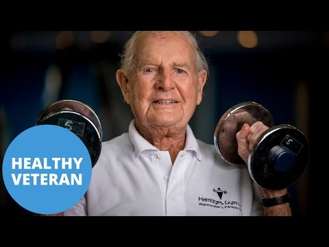 WWII veteran reveals secret to his old age is going to the gym every day