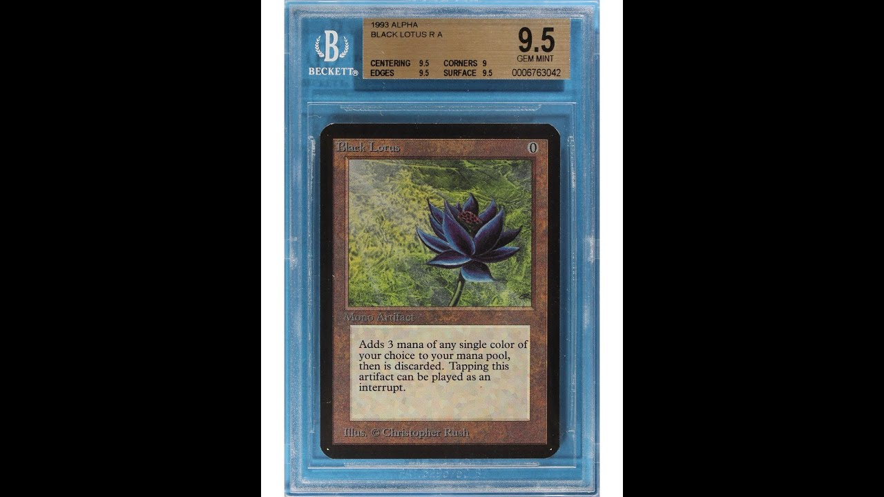 Magic Black Lotus Card Sells For 27 000 Completely