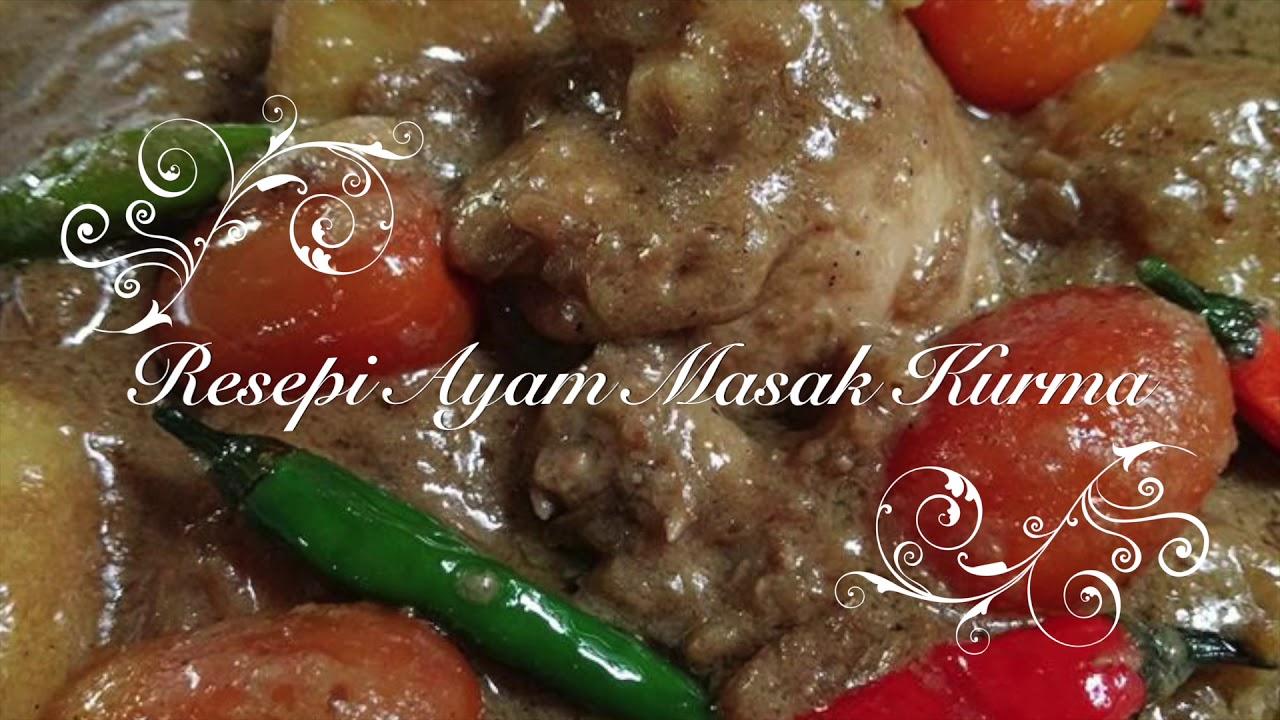 resepi ayam masak kurma mudah  sedap youtube Resepi Ayam Masak Negro Enak dan Mudah