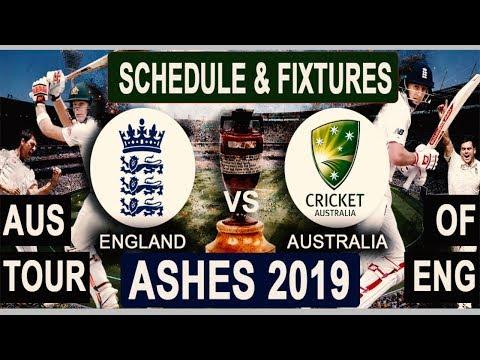 Ashes 2019 : Schedule & Fixtures| Venues & Time | Australia Tour Of England  2019