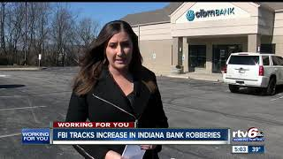 FBI tracks increase in Indiana bank robberies