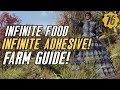 Fallout 76 INFINITE ADHESIVE & FOOD GUIDE! #Fallout76