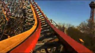 new texas giant real pov six flags over texas roller coaster media day 2011