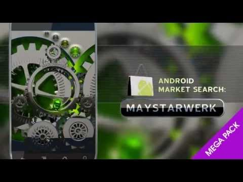 New Android Apps 2012 Android Green Live Wallpaper Clock