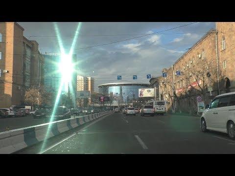 Yerevan, 03.03, 19, Su, (на рус.),  Video-2, От ул.Шираки до Северного проспекта.