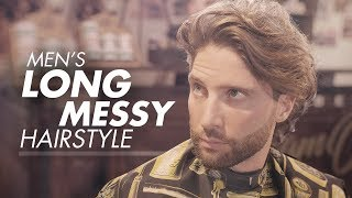 Men's Long Hair for Summer | Curly Messy Hairstyle 2019