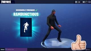 FORTNITE RAMBUNCTIOUS EMOTE DANCE! (1 HOUR)
