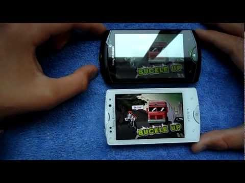 [Test game]Sony Ericsson XPERIA Mini Pro SK17i vs Sony Ericsson Live with Walkman