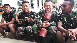 Abdi Negara adk jilbab biru versi TNI