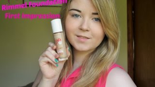First Impression - Rimmel lasting finish 25hr nude foundation Thumbnail
