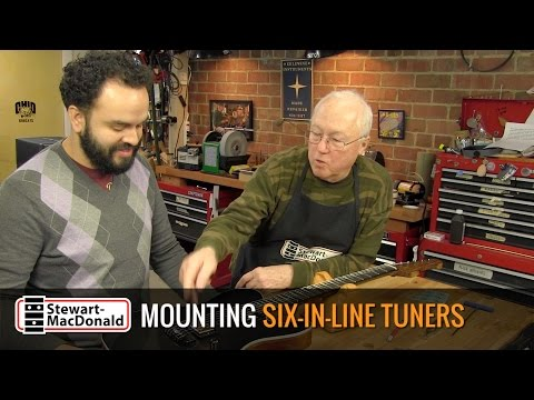 How to install six-in-line tuners