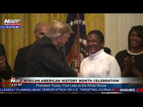 AFRICAN-AMERICAN HISTORY MONTH CELEBRATION: Pres. Trump, First Lady Attend at the White House (FNN)