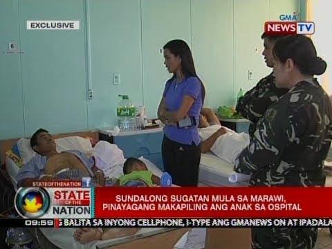 SONA: Sundalong sugatan mula sa Marawi, pinayagang makapiling ang anak sa ospital