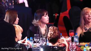 [Fancam] 101209 Taeyeon Keeps Staring at IU @ Golden Disk Awards 2010 - Stafaband