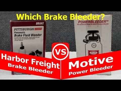 Which Brake Bleeder Should I buy? - A Comparison Between Motive and Harbor Freight?