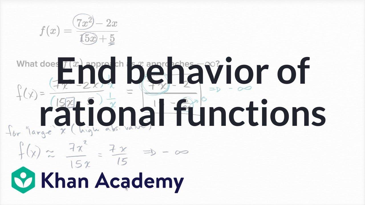End behavior also of rational functions mathematics iii high school rh youtube