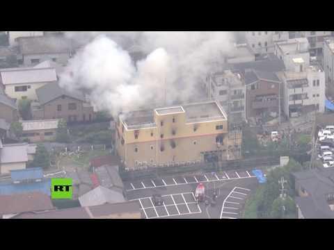 Japón: brutal incendio en un estudio