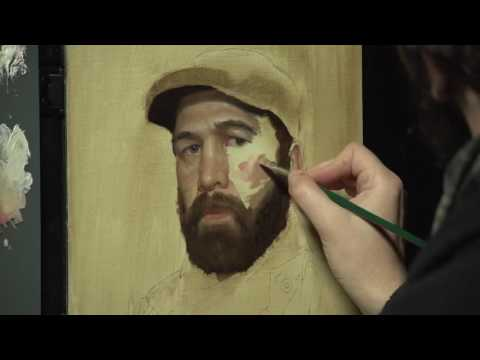 "Gregory Mortenson ""Realistic Self Portraits"" Speedpaint"