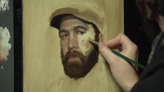 "Gregory Mortenson ""Realistic Self Portraits"" Speedpaint"