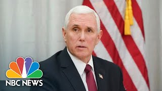 VP Mike Pence And Governor Jay Inslee Give Updates On Coronavirus | NBC News (Live Stream Recording)