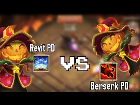 Castle Clash : Evolved 6/8 Berserk PD Vs 5/5 Revitalize PD O_O Unbelievable Results !