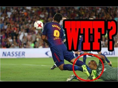 Luis Suarez Diving - Lionel Messi Penalty Goal - Barcelona Vs Real Madrid 1-3 13/8/2017 HD 1080P