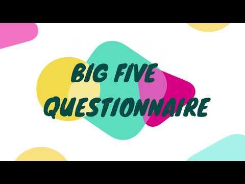 BIG FIVE QUESTIONNAIRE