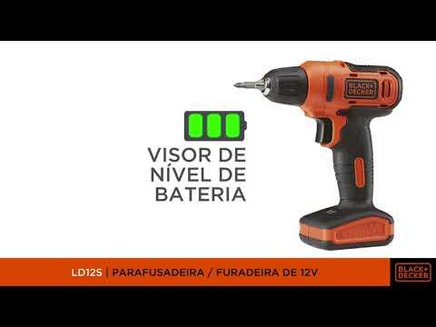 """Furadeira e Parafusadeira a Bateria 12V 3/8"""" Reversível Bivolt - LD12S-BR - Black&Decker"""