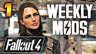 Fallout 4 Mods Weekly #1| GORGEOUS VAULT GIRL (5 Mods)