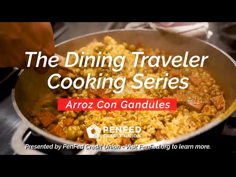 How To Make Arroz Con Gandules (Puerto Rican Style) | Dining Traveler Cooking Series