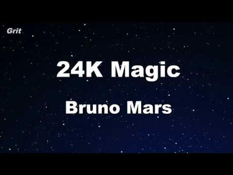 24K Magic - Bruno Mars Karaoke 【No Guide Melody】 Instrumental