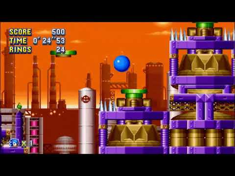 "Sonic Mania (PC) - Oil Ocean 1 Sonic: 44""76 (Speed Run)"