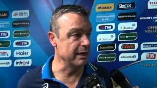 05-10-2014: Intervista a Marco Bonitta nel post Italia-Cina a Bari