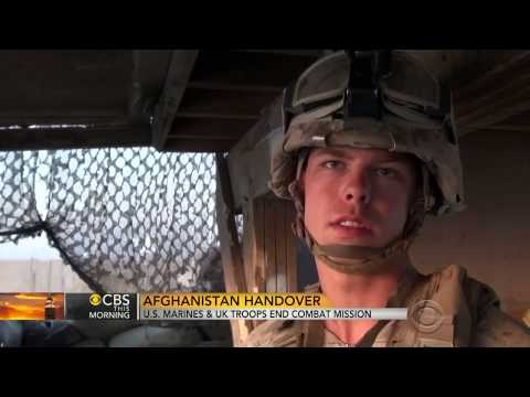 U.S. Marines And UK Troops End Combat Mission In Afghanistan