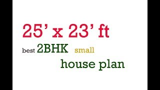 25 x 23  best 2BHK SMALL HOUSE PLAN