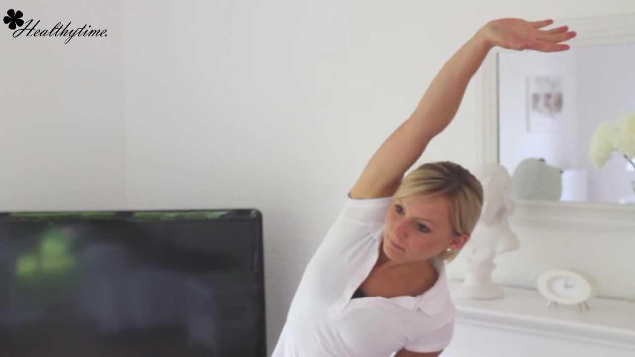 Dehnübung für Zuhause gegen Rückenschmerzen..