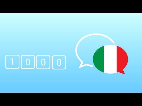 1000 câu tiếng Ý giao tiếp hằng ngày thông dụng nhất - Learn Italian Phrase - Italian Conversation