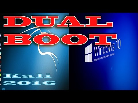 Dual boot Kali Linux 2016 with Windows 7/8/10