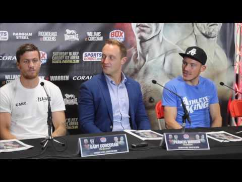 LIAM WILLIAMS v GARY CORCORAN - OFFICIAL PRESS CONFERENCE WITH TRANING TEAMS & FRANCIS WARREN