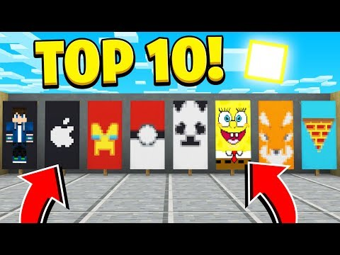TOP 10 BANNER Designs You Didn't Know You Could Make In Minecraft! (NO MODS!)