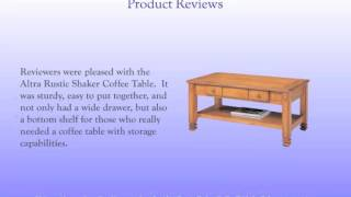 Charming Rustic Coffee Table - Altra Rustic Shaker Coffee Table In Oak Review