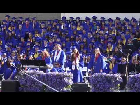 Alyssa Jaffe and Friends singing at Santa Monica High School 2017 Graduation