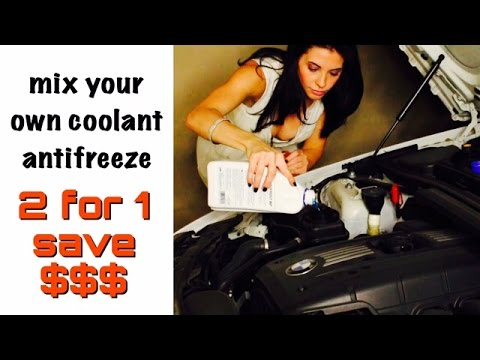 Mixing Distilled water Coolant from Concentrate - Antifreeze Coolant Mixing - Antifreeze Coolant Mix
