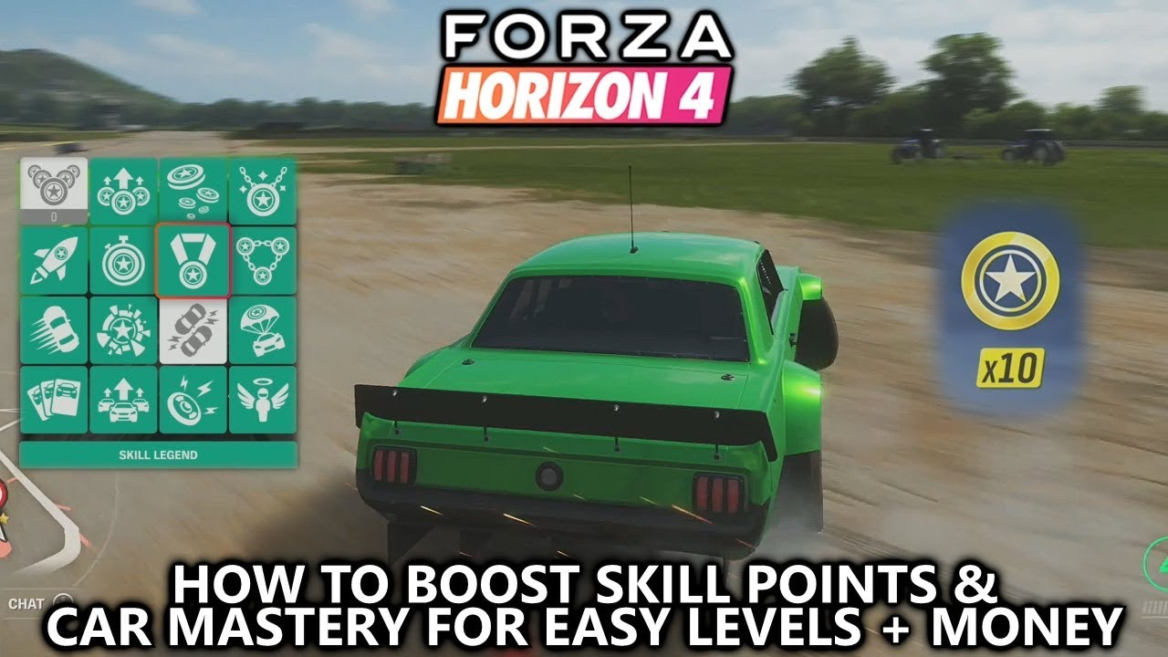 Forza Horizon 4 - How to BOOST Skill Points and Car Mastery (Easy Money &  Levels)