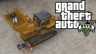 ★ GTA 5 - Scooping People Up w/ the Bulldozer